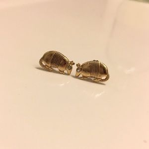 Kate Spade Gold Armadillo Earrings